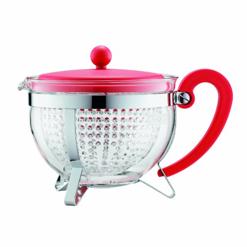 Bodum Chambord 1.3-Liter Tea Pot, 44-Ounce, Red (Bodum Teapot Red compare prices)