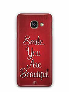 YuBingo Smile. You are Beautiful Designer Mobile Case Back Cover for Samsung Galaxy A3 2016