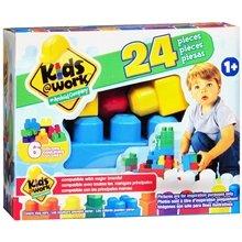 Kids @ Work 24 Piece Building Block Set - Compatible with Major Brands - 1