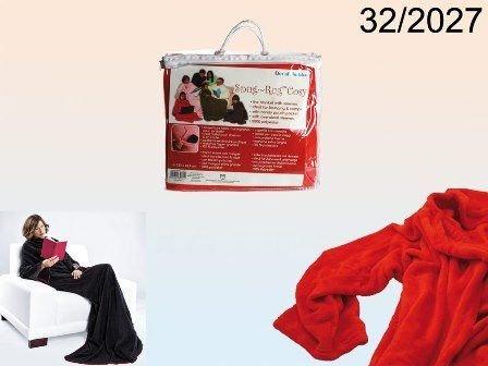 Coperta con maniche Kangooro unisex per il tuo inverno rossa