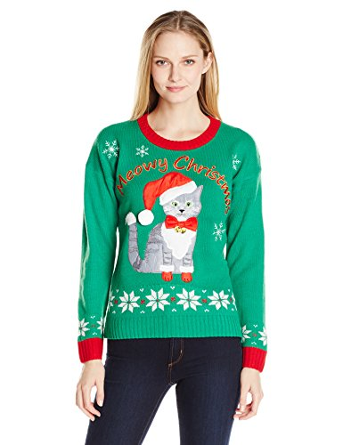 Kitty Ugly Christmas Sweater with Bells
