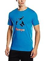Kempa Camiseta Manga Corta Panda (Azul Claro)