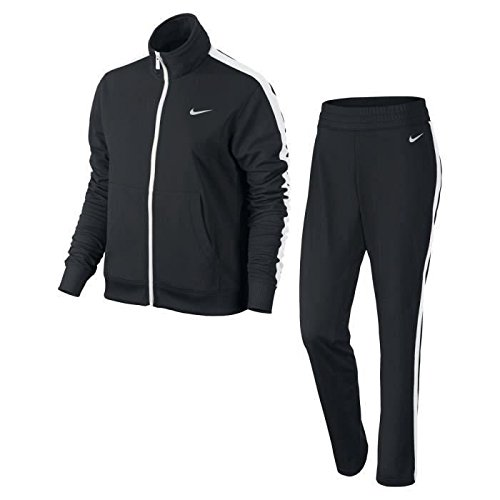 Nike Polyknit Tracksuit Tuta, Black/White/Black/White, S