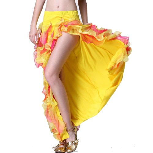 Feimei Women's Belly Dance Side-opening Skirt