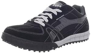 Skechers Floater - Zapatillas de cuero para hombre, color negro, talla 42