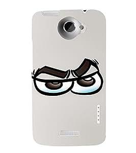 PrintVisa Cool Cartoon Emotion 3D Hard Polycarbonate Designer Back Case Cover for HTC One X