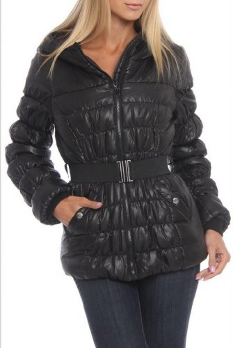 Best White Mark Women's Fall-Winter Touch Down Belted Bubble Jacket