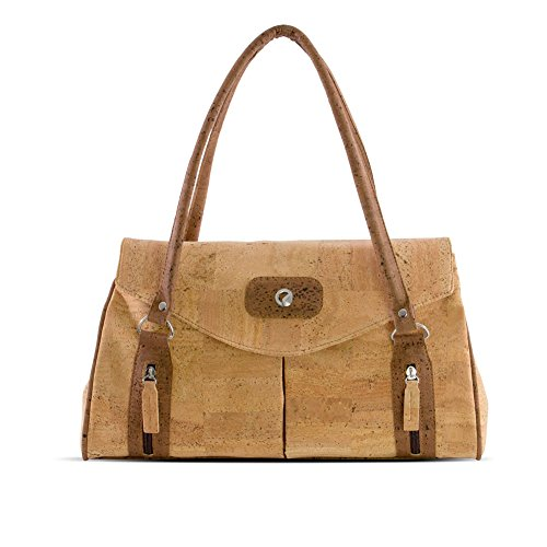 Corkor - Cork Shoulder Handbag for Women, Christmas Vegan Gift Light Brown
