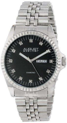 August Steiner Men'S As8047Ss Diamond Stainless Steel Bracelet Watch