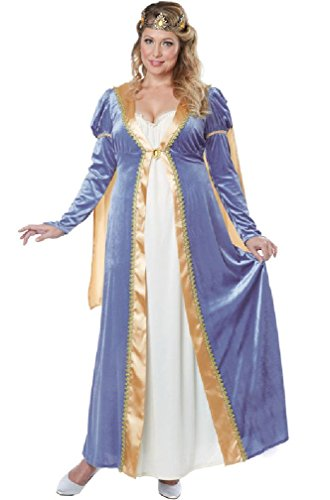 8eighteen Elegant Royal Empress Renaissance Queen Dress Plus Size Costume (Royal Empress Adult Costume)