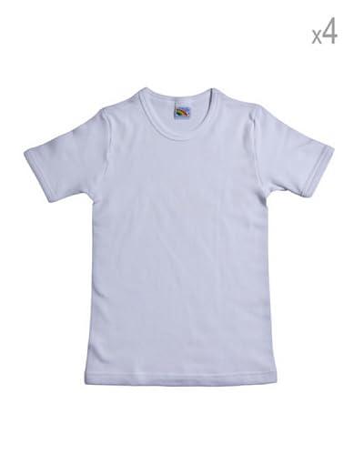 Fragi Set 4 Pezzi T-Shirt Felpata [Bianco]