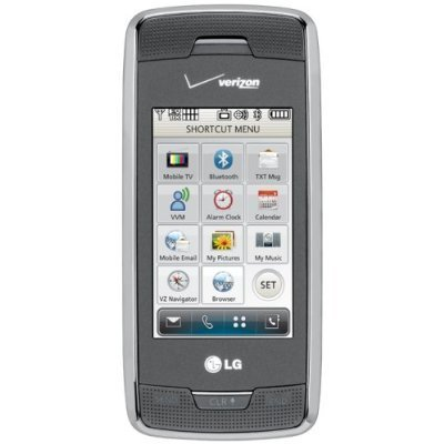Verizon Lg Voyager Vx10000 No Contract Tv Qwerty 3G Camera Phone Titanium Used