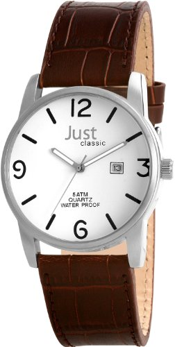 Just Men's Quartz Watch 48-S9224WH-BR