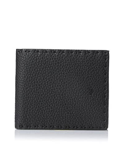 Fendi Men's Selleria Leather Bi-Fold Wallet, Black