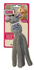 Kong Cat Wubba MOUSE Catnip Rattle Crinkle Tails Cat Kitten Toy 9-inch (WC55)