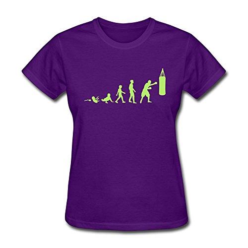 Zhitian Women'S Cool Boxing Evolution T-Shirt - S Purple