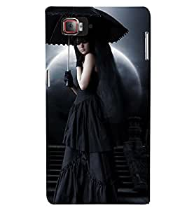 Printvisa Lady With A Haunted Background Back Case Cover for Lenovo Vibe Z2 Pro K920