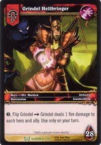World of Warcraft Hunt for Illidan Single Card Grindel Hellbringer #10 Uncommon