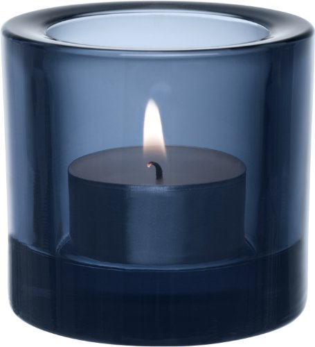 iittala Kivi Teelichthalter 60 mm regenblau