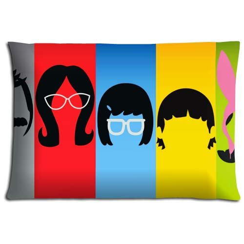 "16x24 16""x24"" 40x60cm Body pillow shells cases Cotton Polyester LASTING ease Bob's Burgers"