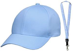 Original Flexfit Cap von Yupoong in Carolina Blue Größe S/M + Schlüsselband von 2stoned
