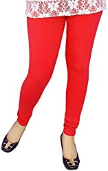 Unicraft Women's Cotton & Lycra Leggings (unicraft-02Red)