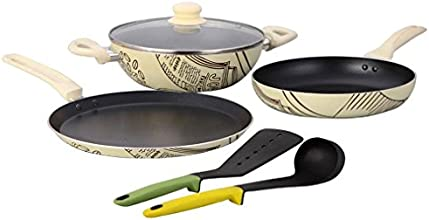 Wonderchef Picasso Cookware Set, 4-Pieces (Free Silicone Spoon & Spatula worth 750/-)