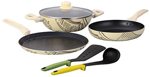Wonderchef Picasso Cookware Set, 4-Pieces (Free Silicone Spoon & Spatula worth 750/-)