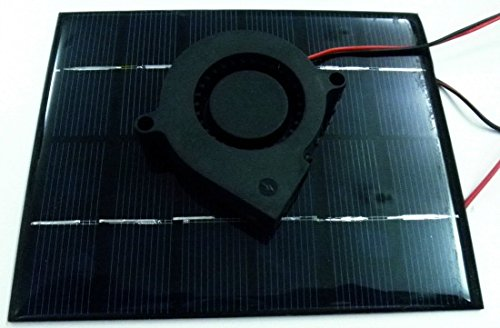 """Solar Powered Garage Ventilation And Attic Ventilation System - """"Solar Powered"""" - 1. Solar Panel 2. Ventilation Fan 3. Electric Wire. Easy To Install."""