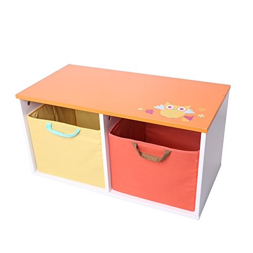 Labebe DIY Baby Toy Storage Box with Lovely Owl Pattern Design--orange
