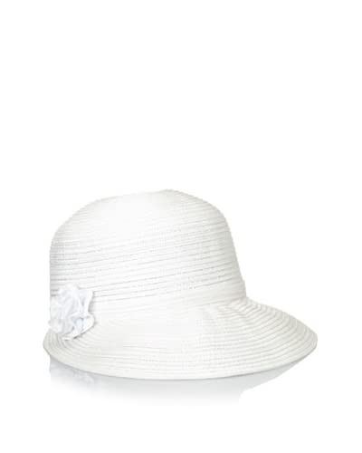 August Accessories Women's Color Streak Framer Hat, White Metallic