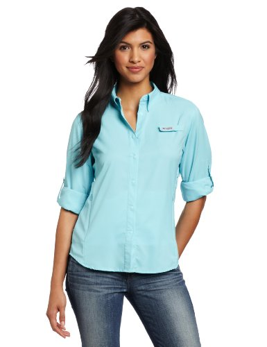 Columbia Women's Tamiami II Long Sleeve Shirt, Clear Blue, Small