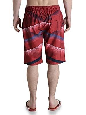 Smith & Jones Swim Shorts & Flip Flop, Tango Rot-gestreift