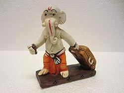Clickshop9 Travel Ganesha Statue Decor Religious Artifact Showpiece Gifts (Multicolor, 3.5