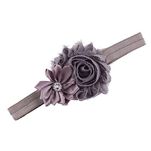 Lookatool Upgrade 10pcs Baby Girl Elastic Multicolor Flower Headband Rhinestone Hair Band