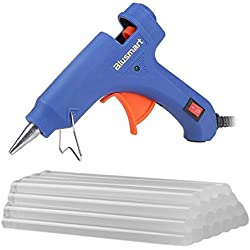 Blusmart Mini Hot Glue Gun with 25 Pieces Melt Glue Sticks, 20 Watts Blue Dual Temperature Glue Gun for DIY Craft Projects and Repair Kit