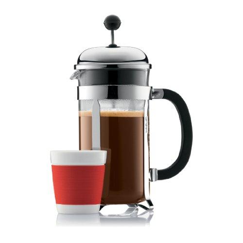 Imagen de Bodum Chambord 4 de taza de café francés de prensa, 17 oz, Chrome