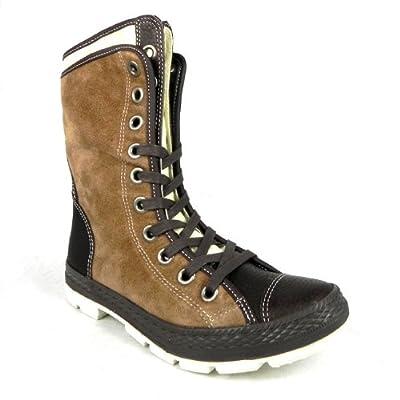 Converse 125665 Chuck Taylor Storm Womens Leather Matt Boots - Brown