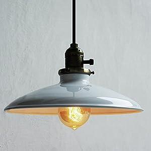 Buyee Modern Vintage Industrial Metal white Ceiling Light Metal Shade Pendant Light by Shenzhen Buyee Trading Co.,Ltd