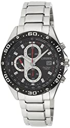 Citizen Eco-Drive Analog Black Dial Mens Watch - CA0030-52E-22 cm