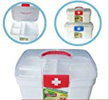 Swarish Plastic Family Health Box Medicine Chest Pill First Aid Case