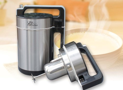 New Gourmet SELF-CLEANING Automatic Soy Milk Maker and Juicer - Bonus 20 Packs of Tofu Coagulant