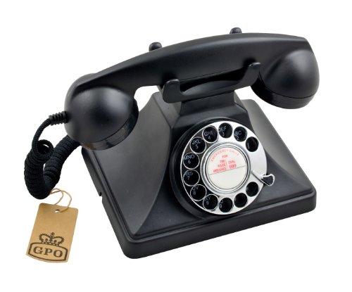 Protelx GPO 200 Classic Retro Rotary Dial Corded Telephone - Black Reviews