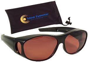 Eschenbach Solar Shields Orange Filter LARGE FitOvers Sunglasses Brand New