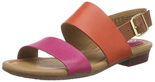 Clarks - Viveca Aztek, Sandalo da donna, rosa (fuchsia leather), 39