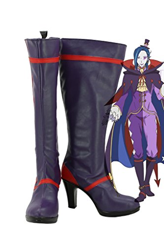 [Re:ZERO Starting Life in Another World Roswaal L Mathers Cosplay Shoes Boots Custom Made] (Costumes Starting With L)