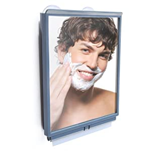 Fogless Shower Mirror with Squeegee by ToiletTree Products. Guaranteed to NEVER fog or your money back!