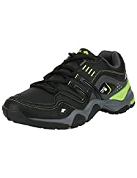 ADK Black & Green Sports Shoes For Men