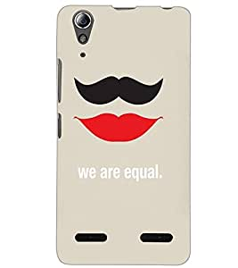 LENOVO A6000 PLUS WE R EQUAL Back Cover by PRINTSWAG