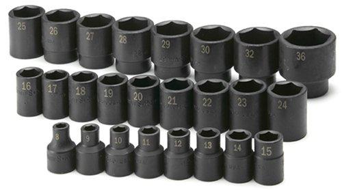 "36 mm 1//2/"" drive Double Deep Metric impacted impact Socket Bi-Hex 12 faces"